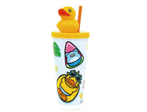 B.Duck Cup with lid and straw